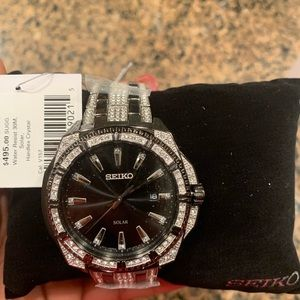 Men's Seiko Swarovski Crystal Watch